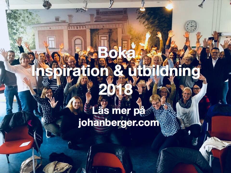 Boka inspiration och utbildning 2018